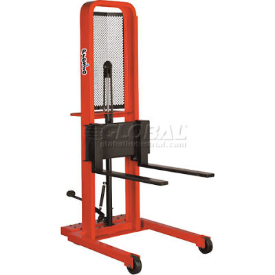 PrestoLifts™ Hydraulic Stacker Lift Truck M252 1000 Lb. with Adj. Forks