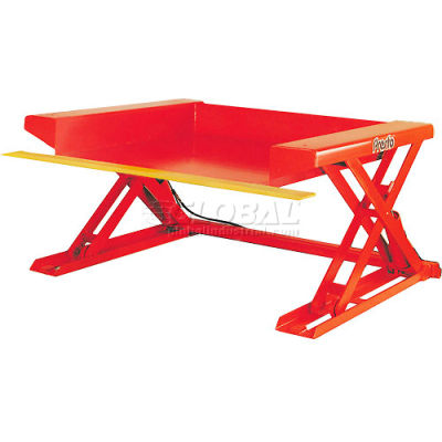 PrestoLifts™ Floor Level Powered Lift Table XZ50-20H Hand Control 2000 Lb.