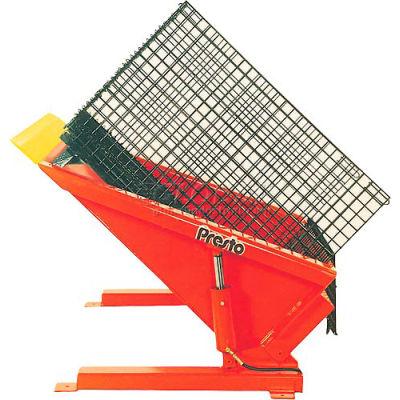 PrestoLifts™ Floor Level Powered Tilt Table TZ44-40H Hand Control 4000 Lb.