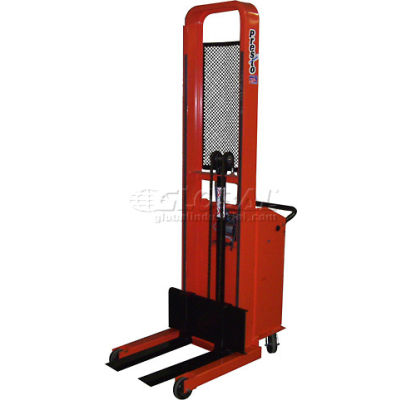 "PrestoLifts™ Pacemaker Battery Powered Lift Stacker B666-1500 1500 Lb. Adjustable 25"" Forks"