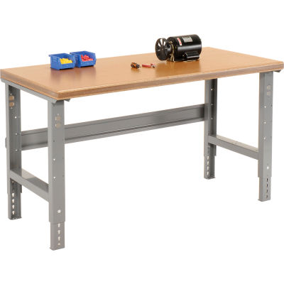 Global Industrial™ 60x30 Adjustable Height Workbench C-Channel Leg - Shop Top Safety Edge Gray