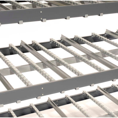 "Global Industrial™ Carton Flow Shelving Single Depth 3 LEVEL 96""W x 48""D x 84""H"