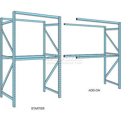 """Husky Rack & Wire Teardrop Pallet Rack Add-On - No Deck - 96""""W x 48""""D x 120""""H"""