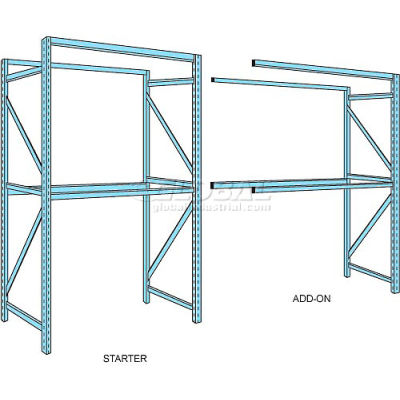 "Husky Rack & Wire Teardrop Pallet Rack Add-On With Wire Deck - 96""W x 42""D x 120""H"
