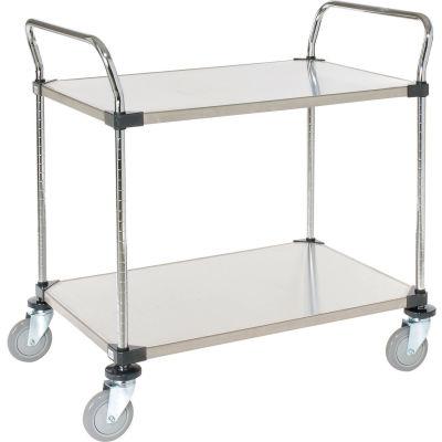 Nexel® Stainless Steel Utility Cart 2 Shelves 36x18