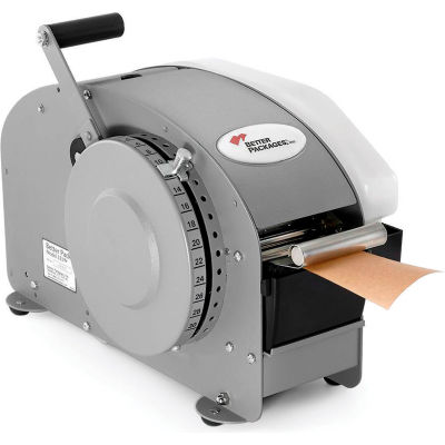"""Better Packages Manual Tape Dispenser With Heater, 19-1/2""""L x 9-1/2""""W x 12-1/2""""H, Gray"""