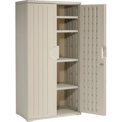 Plastic Storage Cabinet 36x22x72 - Light Gray