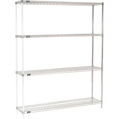 "Nexel® Chrome Wire Shelving Add-On - 60""W x 14""D x 74""H"