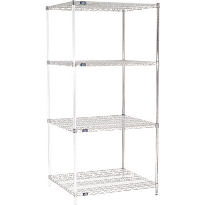 "Nexel® Chrome Wire Shelving Add-On - 36""W x 30""D x 86""H"