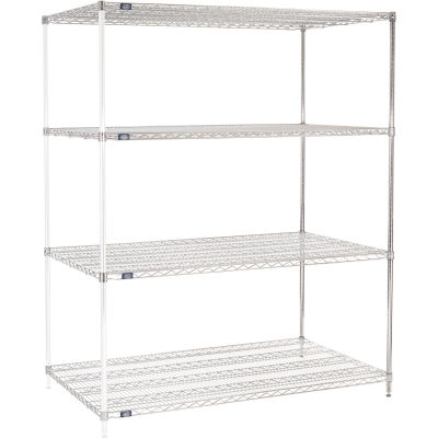 "Nexel® Chrome Wire Shelving Add-On - 60""W x 36""D x 74""H"