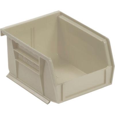 "Akro-Mils® AkroBin® Plastic Stack & Hang Bin, 4-1/8""W x 5-3/8""D x 3""H, Stone - Pkg Qty 24"