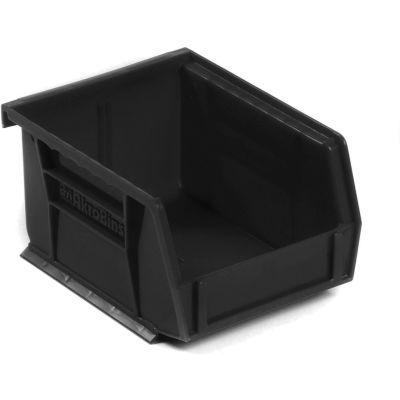 "Akro-Mils® AkroBin® Plastic Stack & Hang Bin, 4-1/8""W x 5-3/8""D x 3""H, Black - Pkg Qty 24"