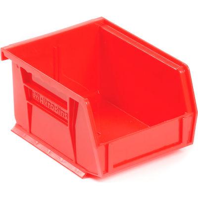 "Akro-Mils® AkroBin® Plastic Stack & Hang Bin, 4-1/8""W x 5-3/8""D x 3""H, Red - Pkg Qty 24"