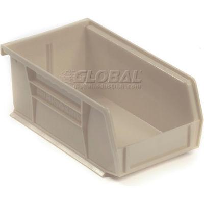 "Akro-Mils® AkroBin® Plastic Stack & Hang Bin, 4-1/8""W x 7-3/8""D x 3""H, Stone - Pkg Qty 24"