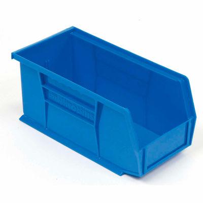 "Akro-Mils® AkroBin® Plastic Stack & Hang Bin, 5-1/2""W x 10-7/8""D x 5""H, Blue - Pkg Qty 12"