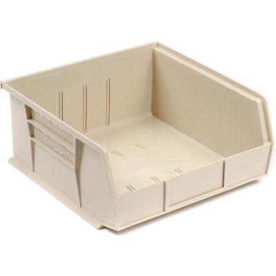 "Akro-Mils® AkroBin® Plastic Stack & Hang Bin, 16-1/2""W x 10-7/8""D x 5""H, Stone - Pkg Qty 6"