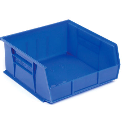 "Akro-Mils® AkroBin® Plastic Stack & Hang Bin, 16-1/2""W x 10-7/8""D x 5""H, Blue - Pkg Qty 6"
