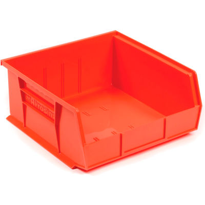 "Akro-Mils® AkroBin® Plastic Stack & Hang Bin, 11""W x 10-7/8""D x 5""H, Red - Pkg Qty 6"