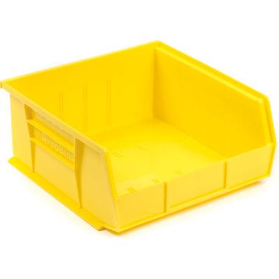 "Akro-Mils® AkroBin® Plastic Stack & Hang Bin, 11""W x 10-7/8""D x 5""H, Yellow - Pkg Qty 6"