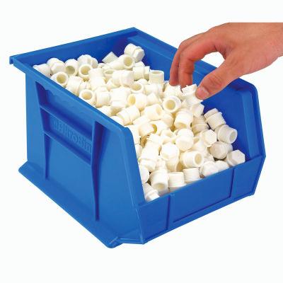 "Akro-Mils® AkroBin® Plastic Stack & Hang Bin, 8-1/4""W x 10-3/4""D x 7""H, Blue - Pkg Qty 6"