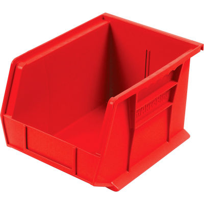 "Akro-Mils® AkroBin® Plastic Stack & Hang Bin, 8-1/4""W x 10-3/4""D x 7""H, Red - Pkg Qty 6"