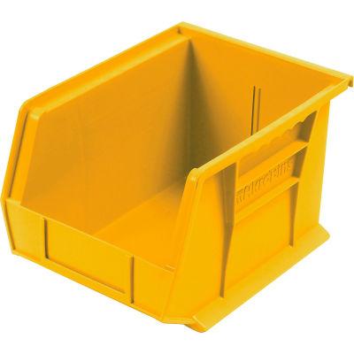 "Akro-Mils® AkroBin® Plastic Stacking Bin, 8-1/4""W x 10-3/4""D x 7""H, Yellow - Pkg Qty 6"