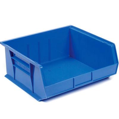 "Akro-Mils® AkroBin® Plastic Stack & Hang Bin, 16-1/2""W x 14-3/4""D x 7""H, Blue - Pkg Qty 6"