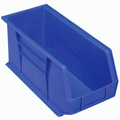 "Akro-Mils® AkroBin® Plastic Stack & Hang Bin, 8-1/4""W x 18""D x 9""H, Blue - Pkg Qty 6"