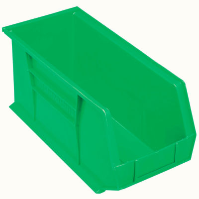 "Akro-Mils AkroBin® Plastic Stacking Bin 30265 - 8-1/4""W x 18""D x 9""H, Green - Pkg Qty 6"