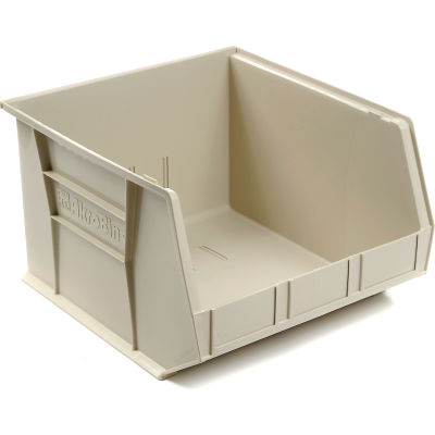"Akro-Mils® AkroBin® Plastic Stack & Hang, 16-1/2""W x 18""D x 11""H, Stone - Pkg Qty 3"