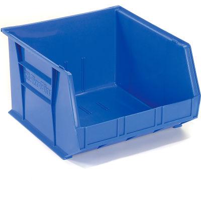 "Akro-Mils® AkroBin® Plastic Stack & Hang Bin, 16-1/2""W x 18""D x 11""H, Blue - Pkg Qty 3"