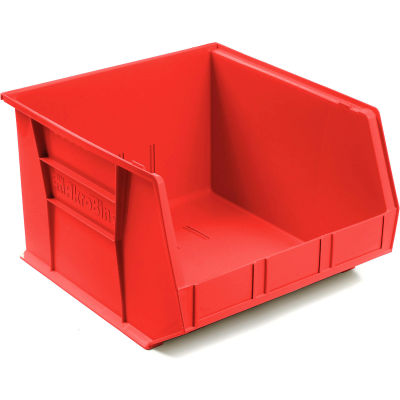 "Akro-Mils® AkroBin® Plastic Stack & Hang Bin, 16-1/2""W x 18""D x 11""H, Red - Pkg Qty 3"