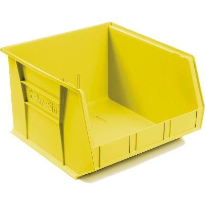 "Akro-Mils® AkroBin® Plastic Stack & Hang Bin, 16-1/2""W x 18""D x 11""H, Yellow - Pkg Qty 3"