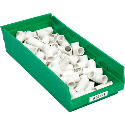 "Global Industrial™ Plastic Nesting Storage Shelf Bin 8-3/8""W x 17-7/8""D x 4""H Green - Pkg Qty 12"