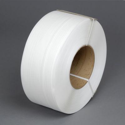 """Polypropylene Strapping 1/2"""" x .024"""" x 9,900' White 8"""" x 8"""" Core"""