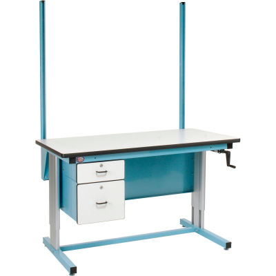 """48""""H Workbench Uprights - Blue for Pro-Line Workbench"""
