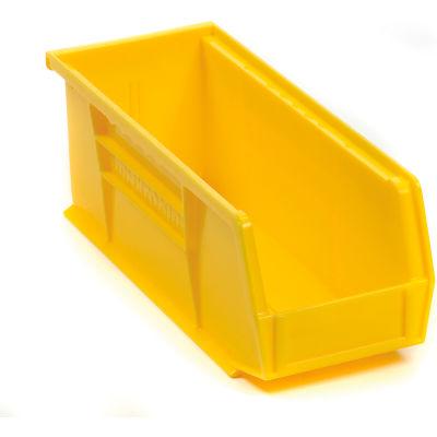 "Akro-Mils® AkroBin® Plastic Stack & Hang Bin, 4-1/8""W x 10-7/8""D x 4""H, Yellow - Pkg Qty 12"