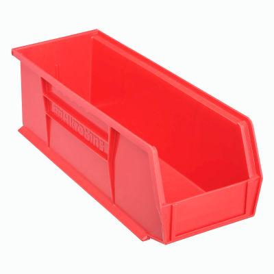 "Akro-Mils® AkroBin® Plastic Stack & Hang Bin, 5-1/2""W x 14-3/4""D x 5""H, Red - Pkg Qty 12"