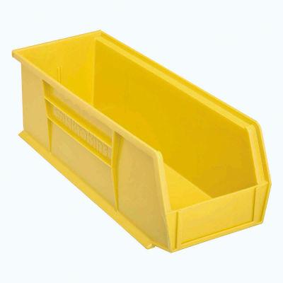 "Akro-Mils® AkroBin® Plastic Stack & Hang Bin, 5-1/2""W x 14-3/4""D x 5""H, Yellow - Pkg Qty 12"