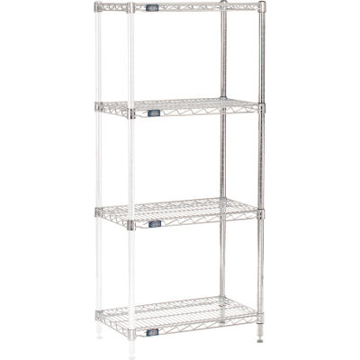 "Nexel® Chrome Wire Shelving Add-On - 30""W x 14""D x 54""H"