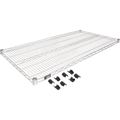 """Nexel® Chrome Wire Shelf, 48""""W x 24""""D"""