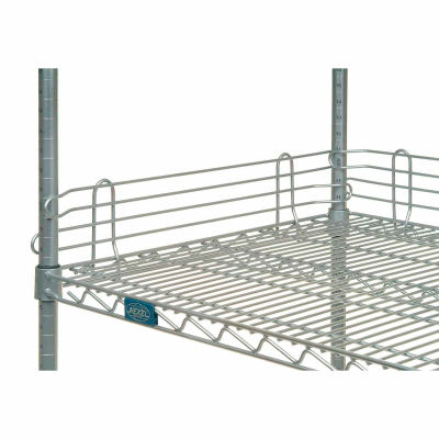 "Nexel® AL414C Chrome Ledge 14""L X 4""H for Wire Shelves"