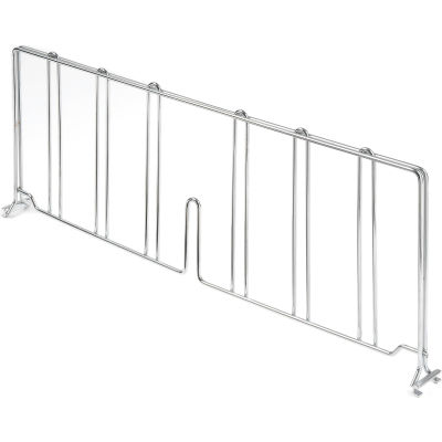 "Nexel® AD818C Chrome Divider 18""D x 8""H for Wire Shelves"