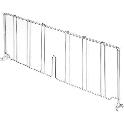 "Nexel® AD830C Chrome Divider 30""D x 12""H for Wire Shelves"