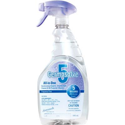 Germosolve 5 Disinfectant Cleaner & Deodorizer, 946 ml, Natural, 12 Bottles/Case - 32355