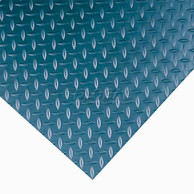 """Wearwell® Diamond-Plate Switchboard Anti Fatigue Mat 1/4"""" Thick 3' x Up to 75' Black"""