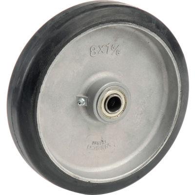 "Wesco® 8"" x 1-1/2"" Mold-On Rubber Wheel 108545 - 5/8"" Axle Size"