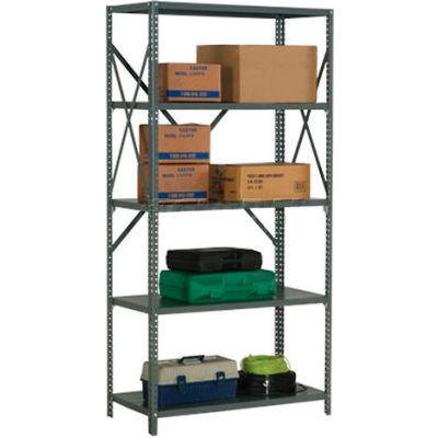 "Global Industrial™ Steel Shelving 18 Ga 48""Wx24""Dx73""H Open Clip Style 5 Shelf"