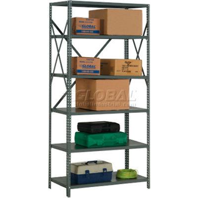 "Global Industrial™ Steel Shelving 20 Ga 36""Wx24""Dx73""H Open Clip Style 6 Shelf"