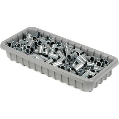 "Dandux Dividable Nesting Plastic Box 50P1811030 -  17-3/4""L x 10-7/8""W x 3""H, Gray - Pkg Qty 5"